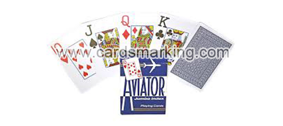 Aviator Blue Jumbo Index Barcode Marked Playing Decks
