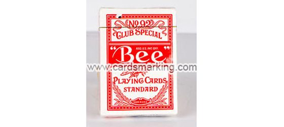 Bee Standard No.92 Single Red Deck
