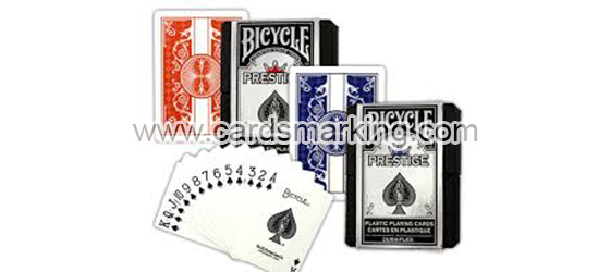 Cartoes de poker de prestigio de bicycle marcados