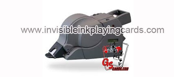 Blackjack shoe camera for scanning barcode marked cards
