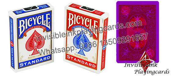 Bicycle marked luminous ink cards