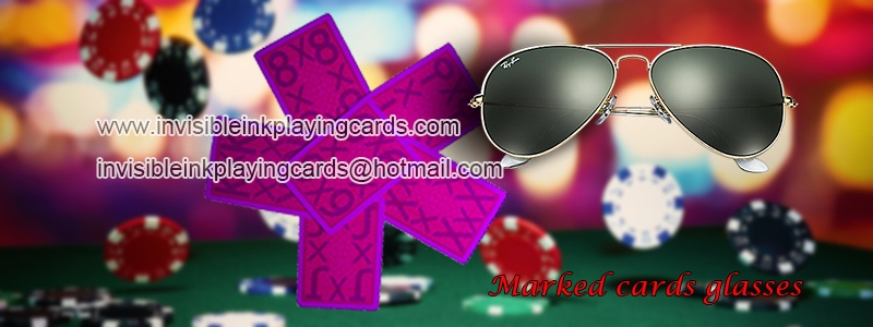 luminous marked cards and invisible ink glasses
