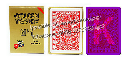 Modiano Golden Trophy Luminous Marked Cards