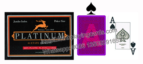 Modiano Platinum Marked Cards Poker