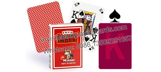 Modiano poker Index cartas de juego marcadas