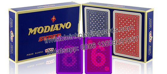 Modiano Super Fiori 2 Decks Marked Playing Cards