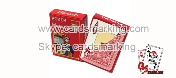 Marked Special Invisible Ink Modiano Cards For Poker Analyzer