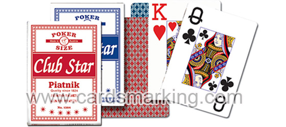 Invisible Ink Marked Piatnik Club Star Poker Decks