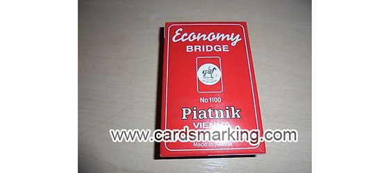 Piatnik Economy Red Marked Playing Cards