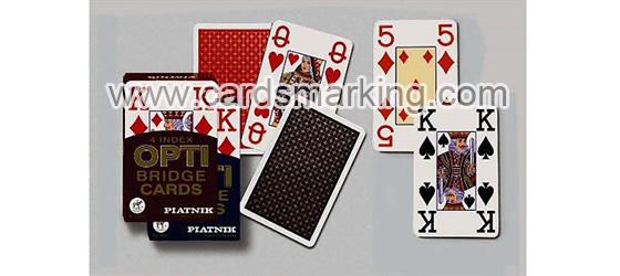Piatnik OPTI Bridge Size 4 index cartas de juego marcadas