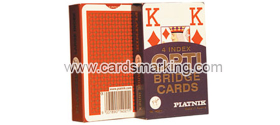 Piatnik OPTI Bridge Size 4 Index Marked Playing Cards