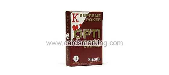 Piatnik OPTI Luminous Marked Playing Red Cards
