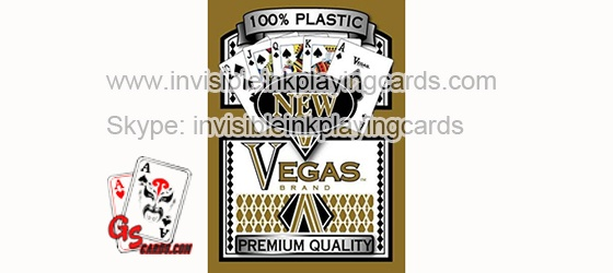 Vegas Marked Plastic Luminous Playing Cards