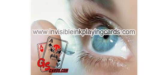 Invisible ink marked cards with X ray contact lenses to see