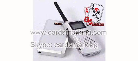 YT-K1 Interphone For Magic Marked Playing Cards Games